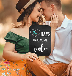 Chalkboard Sign - Days Till I do