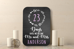 Chalkboard Sign - Days till Mrs Mrs