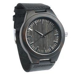 GRPN Italy - Wood Engraved Watch W#100 - Ebony