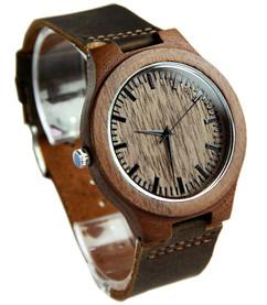 GRPN Italy - Wood Engraved Watch W#85 - Woodland