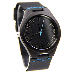 GRPN Italy - Wood Engraved Watch W#83 - Midnight