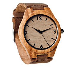 GRPN Italy - Wood Engraved Watch W#67 - Rival