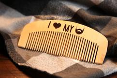 Engraved Comb - I Love My Beard
