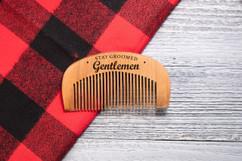 Engraved Comb - Stay Groomed Gentlemen