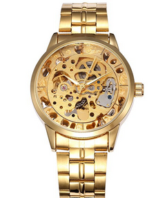 Gold Skeleton Mechanical Steampunk Watch W#56 - Emperor