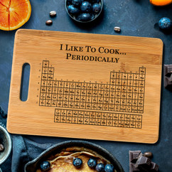 Handle Periodic Table Personalized Cutting Board