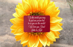 Personalized Wallet Card - You Are the World