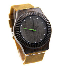 Wood Engraved Watch W#87 - Vault