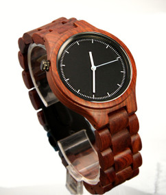 Wood Engraved Watch W#93 - Rouge Link