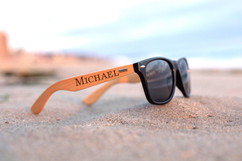 Personalized Bamboo Sunglasses - RayBan Name