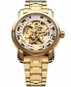 Gold Skeleton Mechanical Steampunk Watch W#18 - Goldrush