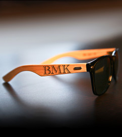 Personalized Bamboo Sunglasses - RayBan IMPRINT Monogram