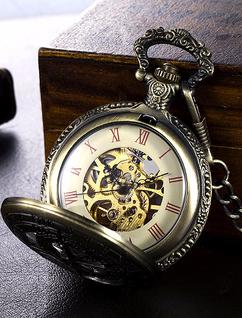 Engraved Twelve Constellations Vintage Pocket Mechanical Watch W#1