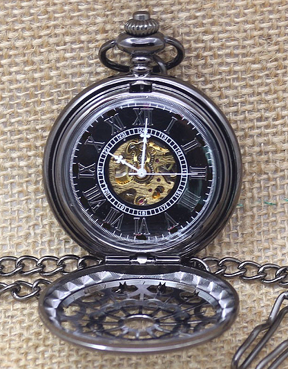 4d774c90d5 Engraved Men Vintage Mechanical Spider Web Pocket Watch W 10 - Cabanyco