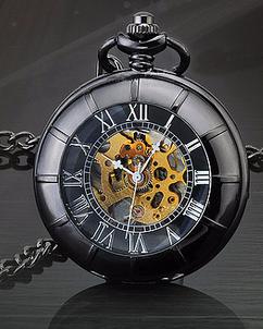 Engraved Men Vintage Mechanical Pocket Watch W#32