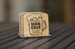 Personalized Coaster Set - Man Cave
