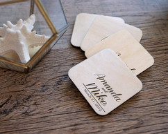 Personalized Coaster Set - Corner Name