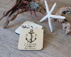Personalized Coaster Set - Anchor