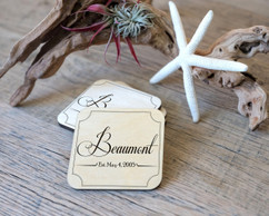 Personalized Coaster Set - Fancy Family Name