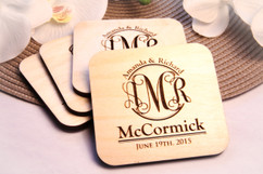 Personalized Coaster Set - Monogram Family