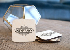 Personalized Coaster Set - Vine Name