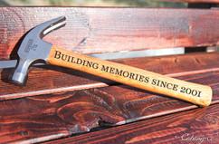 Engraved Hammer - Building Memories