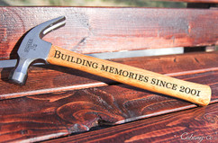 Engraved Hammer - Building Memories