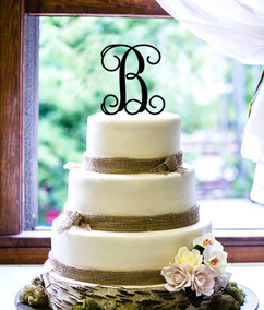 Personalized Cake Topper - Monogram Initial