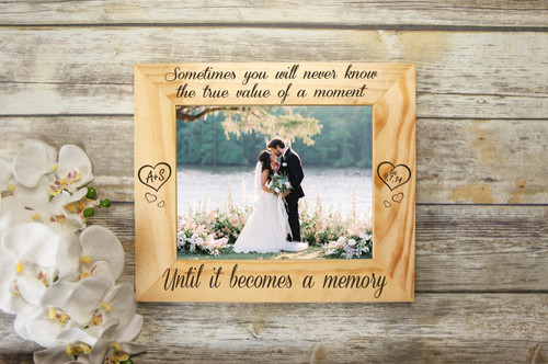6d64394415 Personalized Picture Frame - The Value of a Moment Frame - Cabanyco