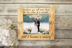 Personalized Picture Frame -  The Value of a Moment Frame