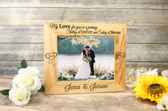 Personalized Picture Frame - Love is a Journey