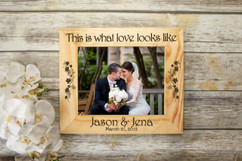 Personalized Picture Frame - What Love Looks Like