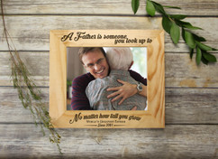 Personalized Picture Frame - A Father is Someone