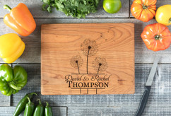 Cherry Personalized Cutting Board ~ Cluster Dandelion