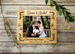 Personalized Picture Frame - From this day forward