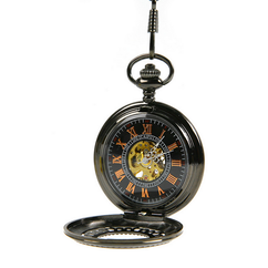 Engraved Men Vintage Mechanical Pocket Watch W#11