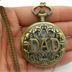 Engraved Men Vintage Mechanical Pocket Watch W#13
