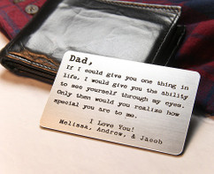 LUX - Personalized Dad Wallet Card