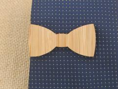 Wooden Tie Clip - Bow tie Cutout
