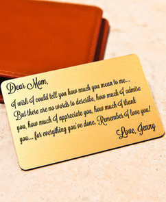 LUX - Personalized Wallet Card  - For Her Admiration