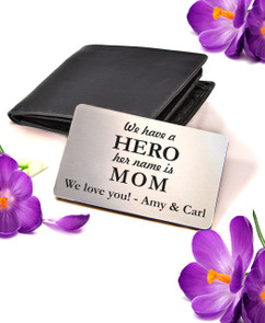 LUX Personalized Wallet Card  - For Her HERO