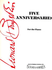 Five Anniversaries For Piano