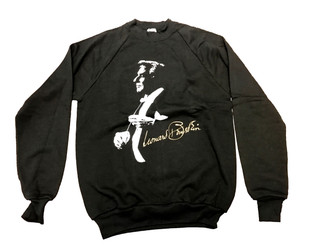 Leonard Bernstein (R)  Sweatshirt Size MEDIUM (black & white)