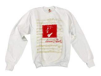 Leonard Bernstein® Sweatshirt Size SMALL (red & white)