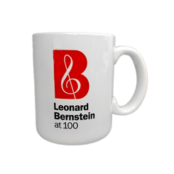 Leonard Bernstein at 100 White Mug