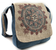 Hemp Om Mandala Messenger Bag