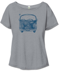 Blue Bus Slouch Tee (1 Small Left)