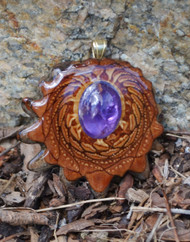 Third Eye Pinecone ~ Amethyst