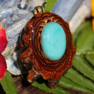 Third Eye Pinecone ~ Turquoise Stone