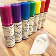 Crystal Infused Chakra Roll On Blend *Crown, Heart, & Solar Plexus*